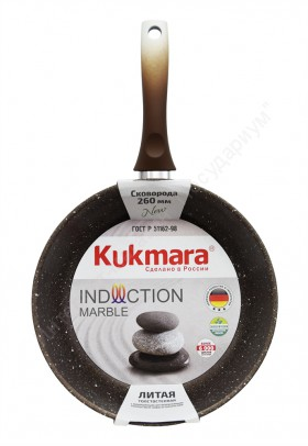 "Сковорода  Kukmara ""Marble Induction"" смки260а 26 см"